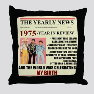 born in 1975 birthday gift Throw Pillow