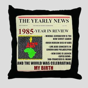born in 1985 birthday gift Throw Pillow