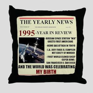 born in 1995 birthday gift Throw Pillow