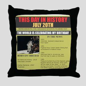 july 20th-birthday Throw Pillow