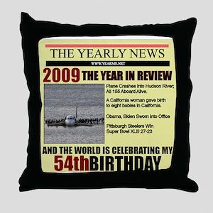 54 birthday Throw Pillow