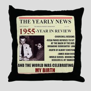 born in 1955birthday gift Throw Pillow