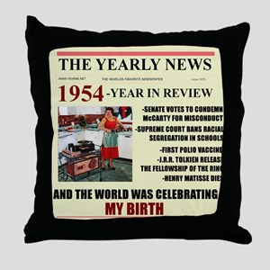 born in 1954 birthday gift Throw Pillow