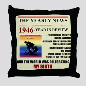 born in 1946 birthday gift Throw Pillow