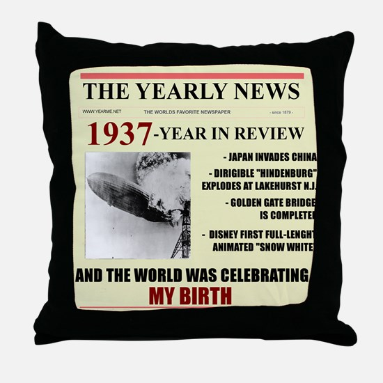 born in 1937 birthday gift Throw Pillow
