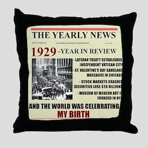 born in 1929 birthday gift Throw Pillow