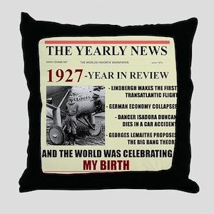 born in 1927 birthday gift Throw Pillow