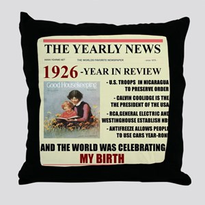 born in 1926 birthday gift Throw Pillow