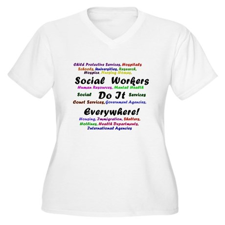 Social Workers are Everywhere Women's Plus Size V-