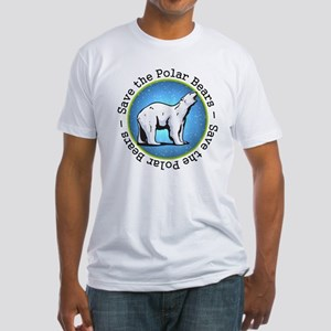Save the Polar Bears Fitted T-Shirt