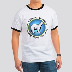 Save the Polar Bears Ringer T