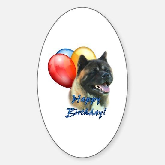 Akita Balloon Oval Decal