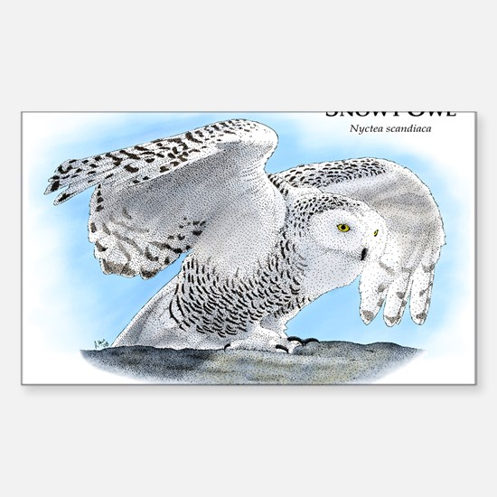 Snowy Owl Rectangle Decal