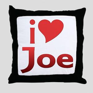 I Heart Joe Fan Throw Pillow
