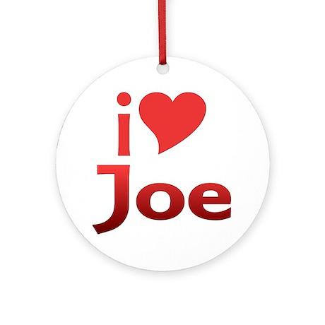 I Heart Joe Fan Ornament (Round)