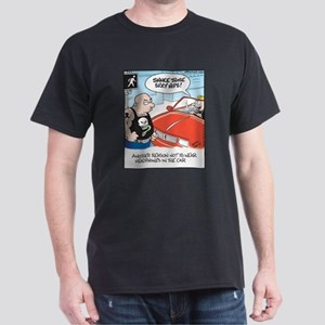 Headphones while Driving Dark T-Shirt