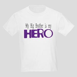 My Big Brother Is My Hero Kids Light T-Shirt