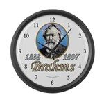 Johannes Brahms Large Wall Clock
