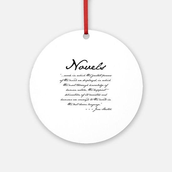 Jane Austen on Novels Ornament (Round)