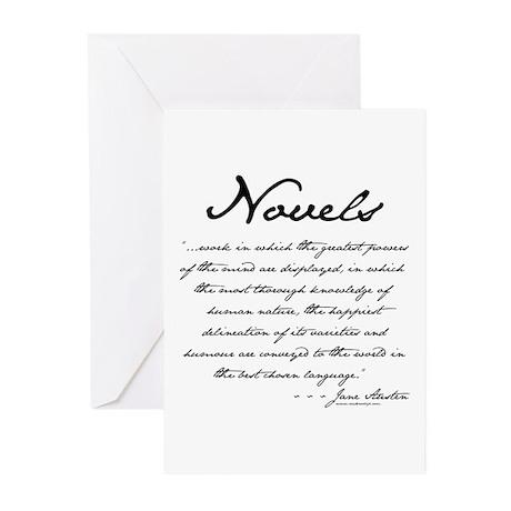 Jane Austen on Novels Greeting Cards (Pk of 10)