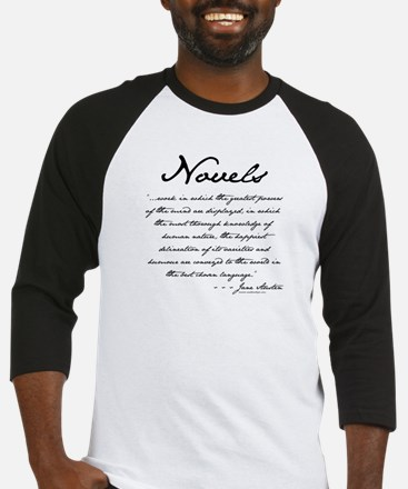 Jane Austen on Novels Baseball Jersey