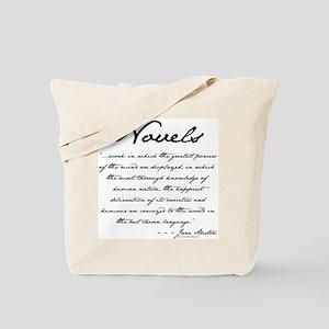 Jane Austen on Novels Tote Bag
