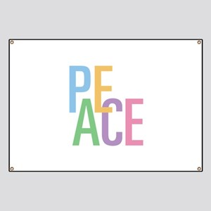 Colorful Peace Banner