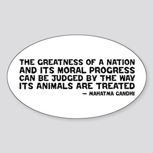Quote - Greatness - Gandhi Oval Sticker