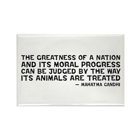 Quote - Greatness - Gandhi Rectangle Magnet
