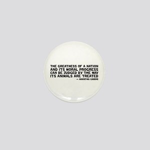 Quote - Greatness - Gandhi Mini Button