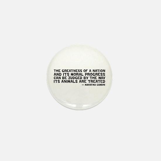 Quote - Greatness - Gandhi Mini Button