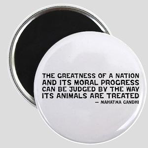 Quote - Greatness - Gandhi Magnet