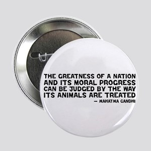 "Quote - Greatness - Gandhi 2.25"" Button"
