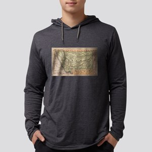 Vintage Map of Montana (1885) Long Sleeve T-Shirt