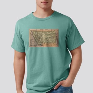Vintage Map of Montana (1885) T-Shirt