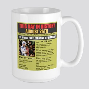AUGUST 26TH-BIRTHDAY Large Mug