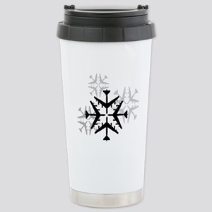 B-52 Aviation Snowflake Stainless Steel Travel Mug
