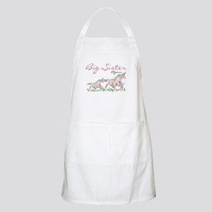Unicorn Big Sister Again BBQ Apron