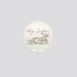Unicorn Big Sister Again Mini Button