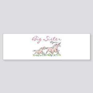 Unicorn Big Sister Again Bumper Sticker