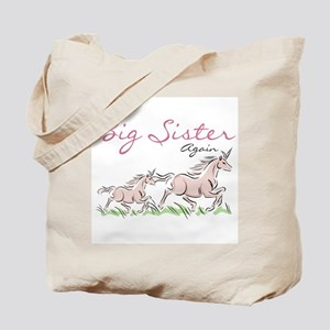 Unicorn Big Sister Again Tote Bag
