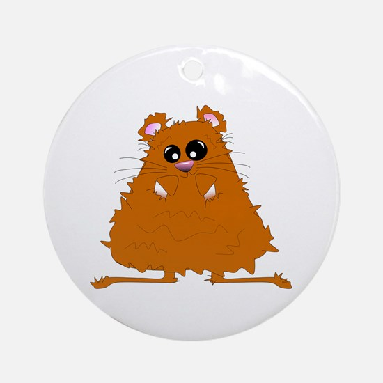 Brown Hamster Ornament (Round)