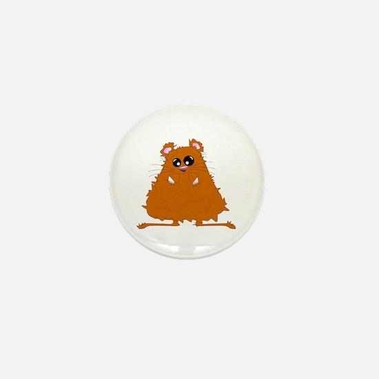 Brown Hamster Mini Button