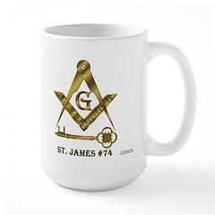 St. James Lodge #74 Large Mug