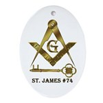 St. James Lodge #74 Oval Ornament