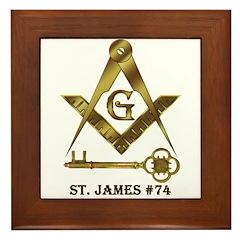 St. James Lodge #74 Framed Tile