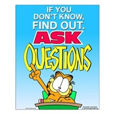 Ask Questions Garfield Small Poster