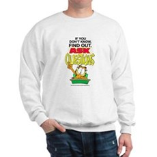 Ask Questions Garfield Sweatshirt