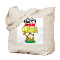 Ask Questions Garfield Tote Bag