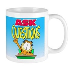Ask Questions Garfield Mug